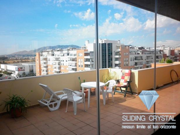 Vetrate panoramiche per terrazze e balconi